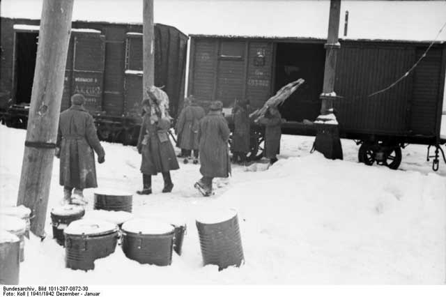 German supply train at Orel, December 1941 worldwartwo.filminspector.com