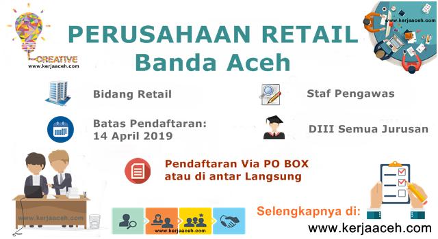Lowongan Kerja Aceh Terbaru 2019 Staff Pengawas D3 Semua Jurusan  di Banda Aceh