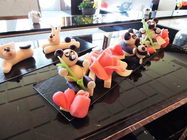 Pandas en massepain