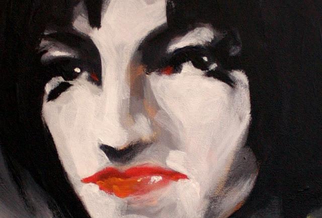 femme fatale Gemälde Ausschnitt Acryl auf Leinwand