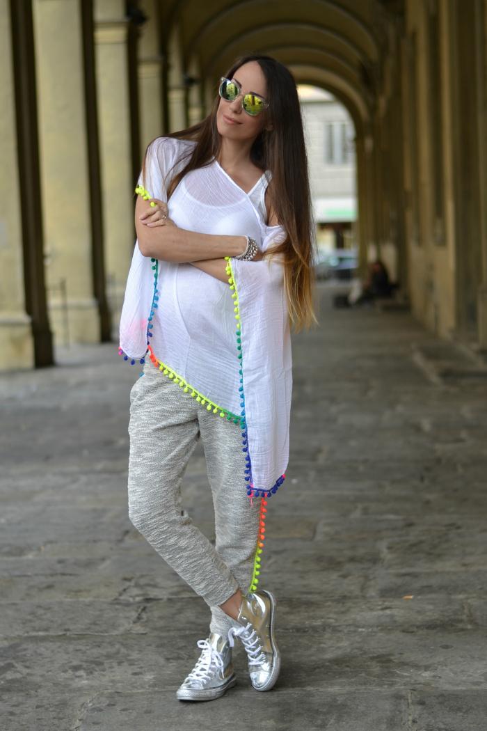 maglia etnica pom pom