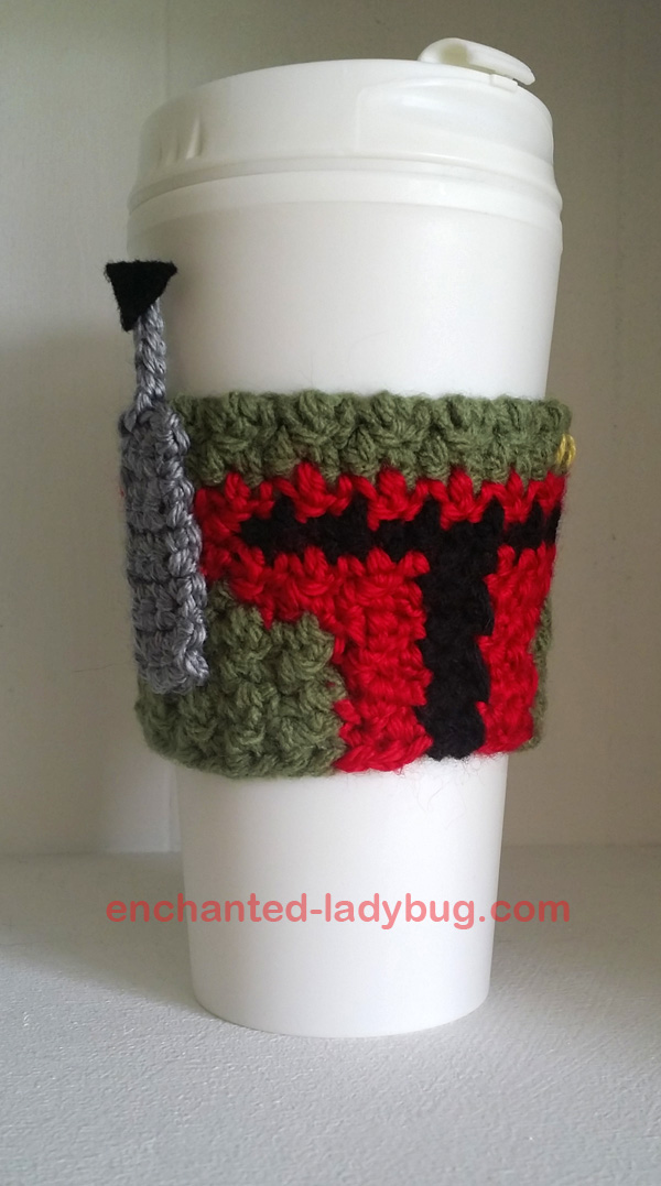Boba Fett Coffee Cup Cozy Crochet Pattern