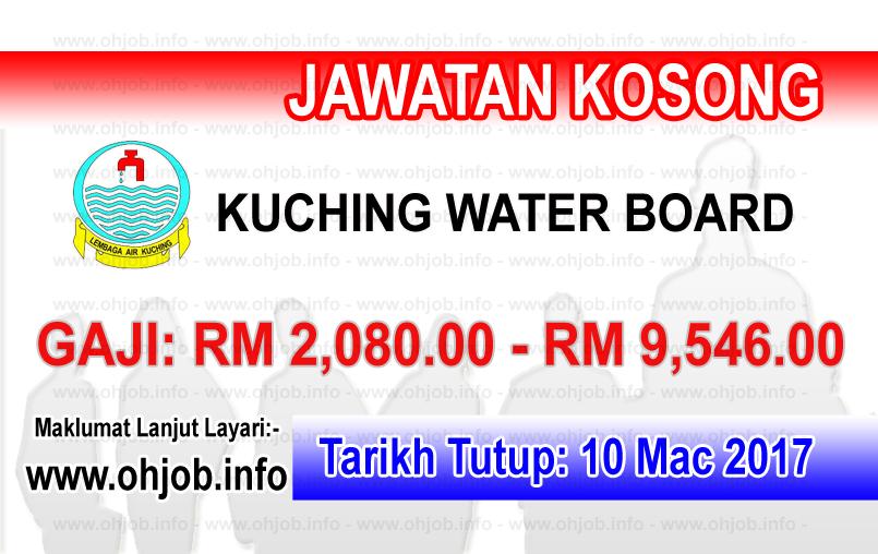Jawatan Kerja Kosong Kuching Water Board logo www.ohjob.info mac 2017