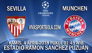 Prediksi Sevilla vs Bayern Munchen 4 April 2018
