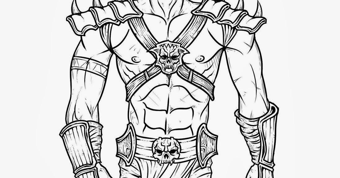 Os Melhores Desenhos Para Colorir De Mortal Kombat