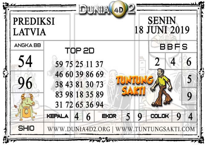 """Prediksi Togel """"LATVIA"""" DUNIA4D2 18 JUNI 2019"""