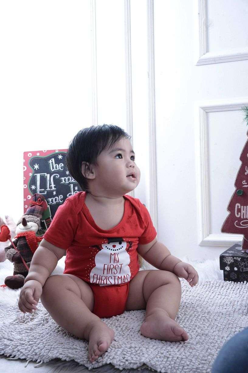 Baby Christmas red theme at Nice Print Studio