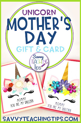 fantastic mother's day card and craft for people who love unicorns.  Great for kids.