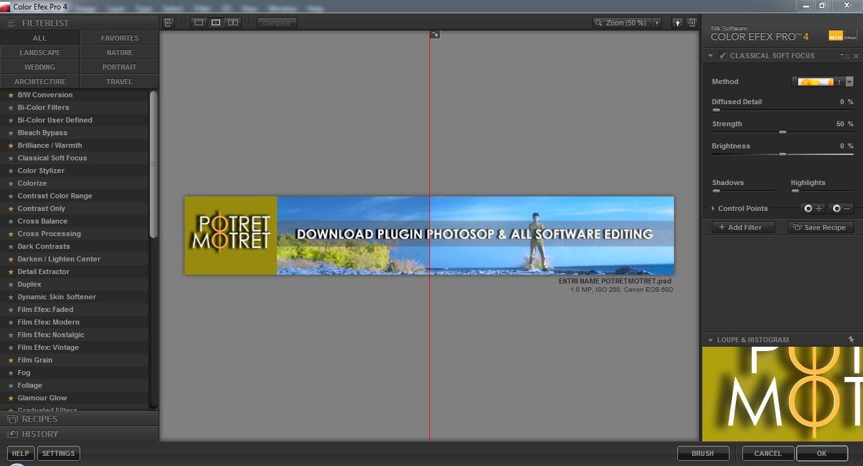 Tampilan Software Nik Color Efek Pro 4.0