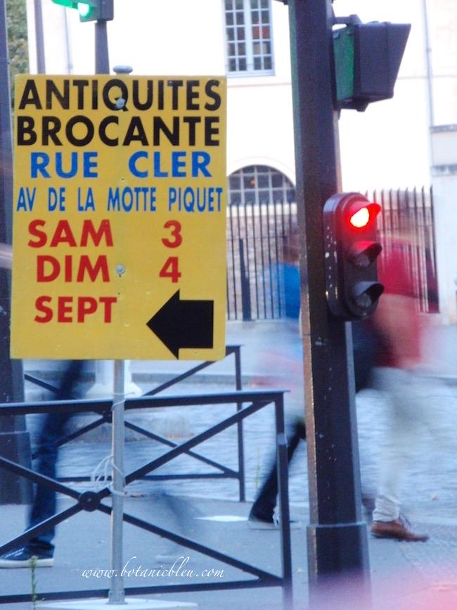 brocante-at-rue-cler-paris-sign