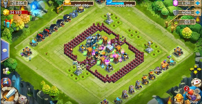 kumpulan base terbaik Castle Clash Atau Konflik Kastil  Untuk Bermain HBM