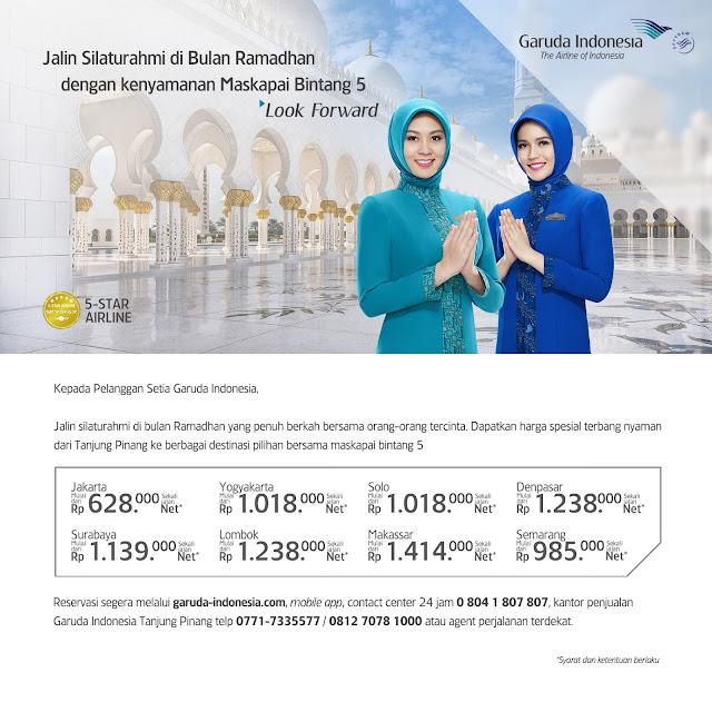 Harga Spesial Garuda Indonesia dari Tanjung Pinang