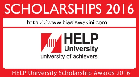 HELP University Scholarship Awards 2016