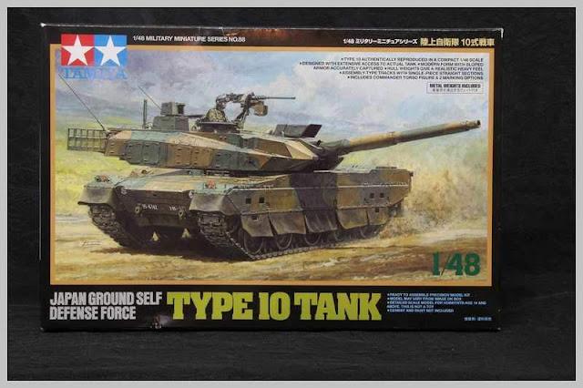 Montage pas à pas du JGSDF Type 10 Tank de Tamiya au 1/48.