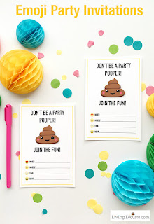 Emoji Party invitations