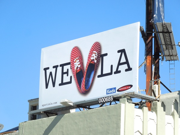 Keds We Love LA shoe billboard