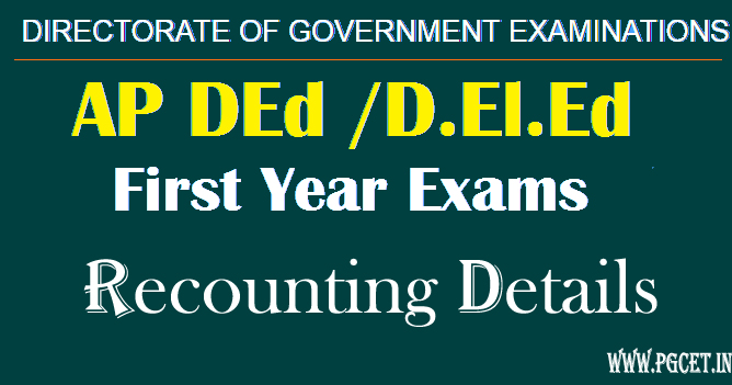 AP Ded 1st year recounting details 2018 last date & results revaluation
