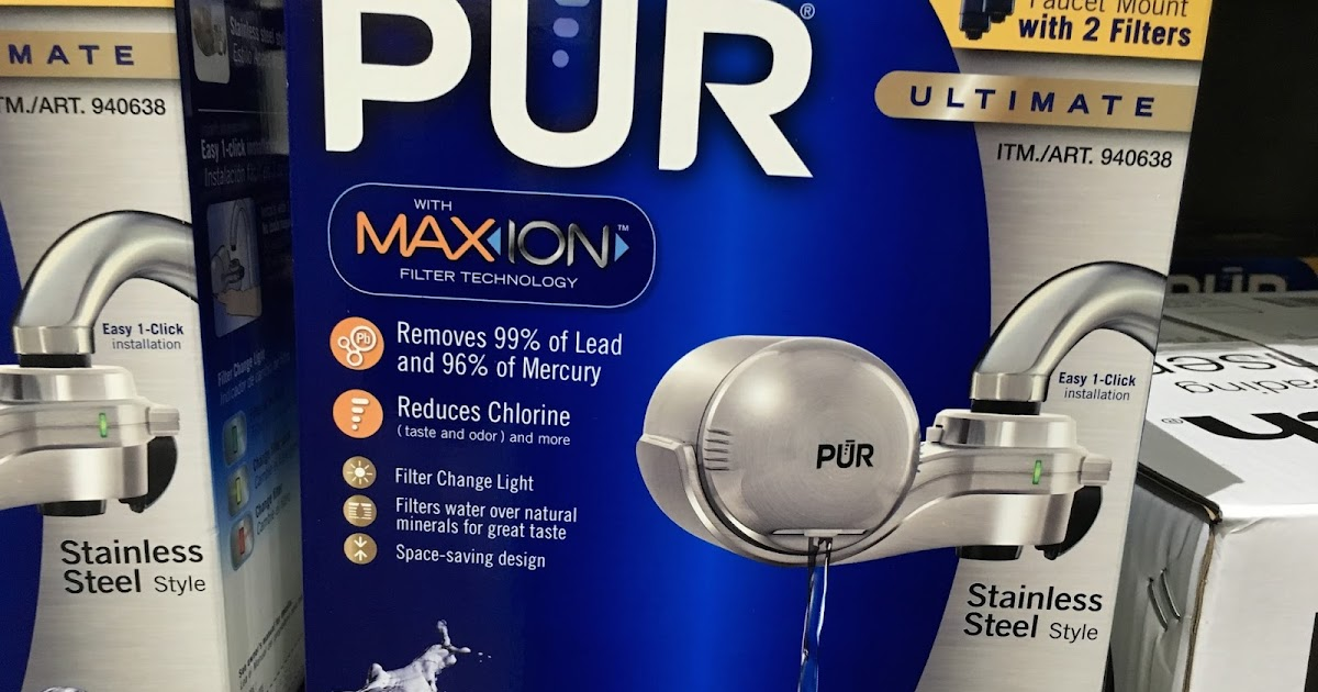 Pur Ultimate Horizontal Faucet Mount With 2 Filters
