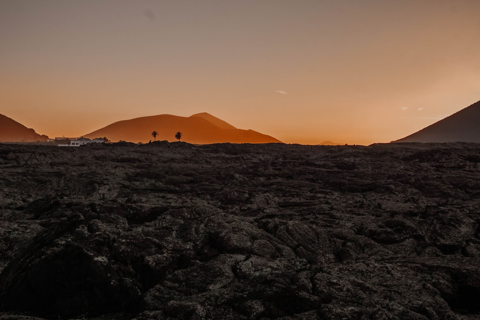 Lanzarote Volcanic Ash Sunset Photography