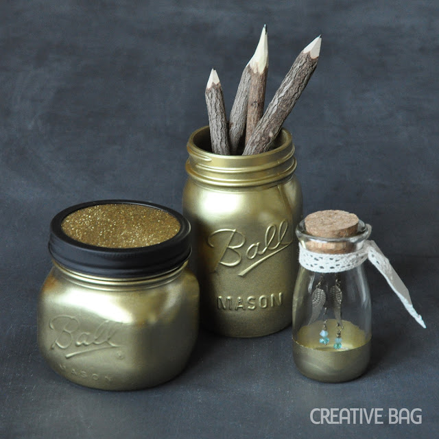 gold spray painted glassware | Creative Bag