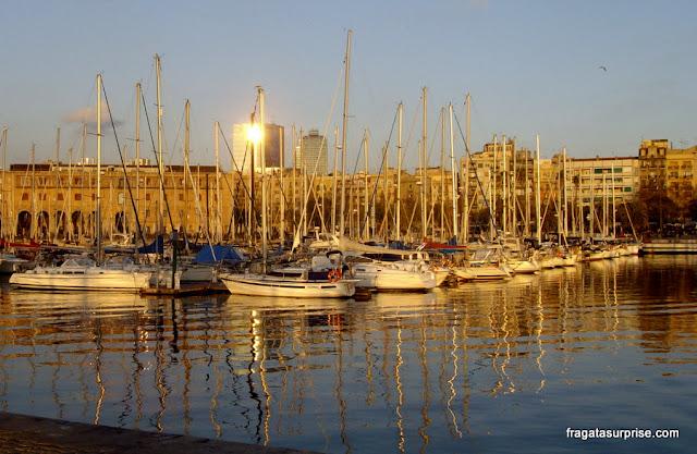 Entardecer em Port Vell, Barcelona