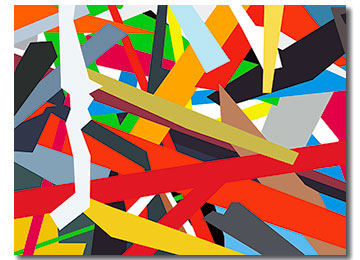 abstract art, geometric paintings, abstract digital painting, Contemporary  art, Sam Freek, contemporary artist, artwork,