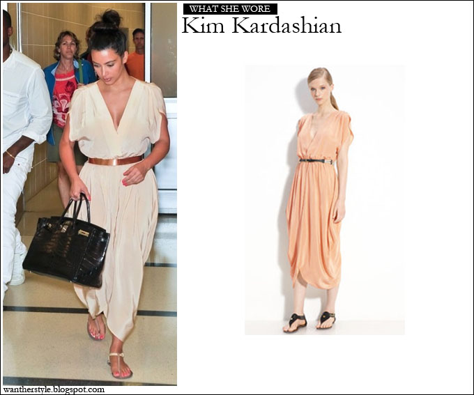 3bdf0b3ac978 WHAT SHE WORE  Kim Kardashian in silk Myne Heidi Dress ~ I want her style -  What celebrities wore and where to buy it. Celebrity Style