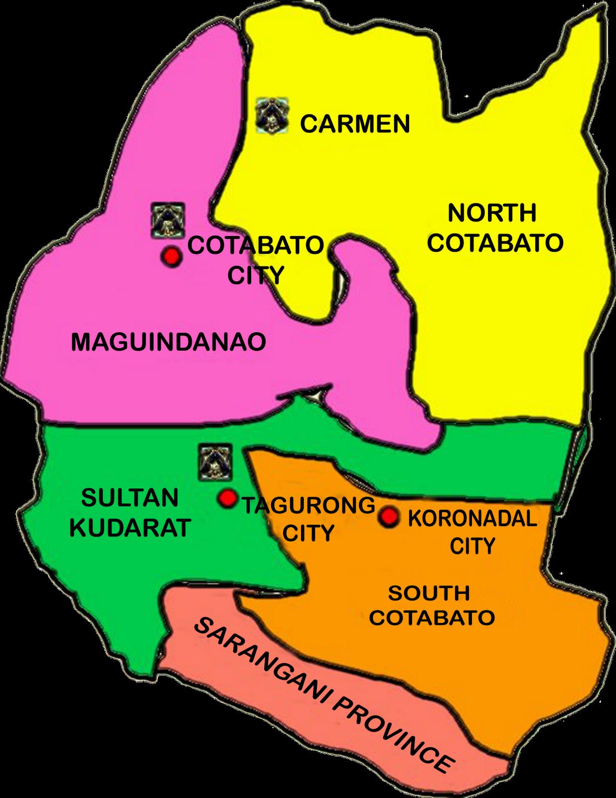 Region 12 Map Philippines Region 12 | B u B b L e p e d i a