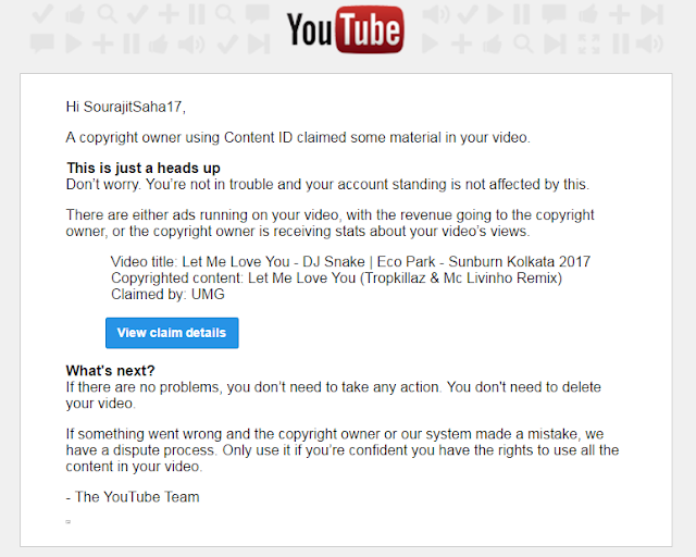 Youtube Copyright Notice