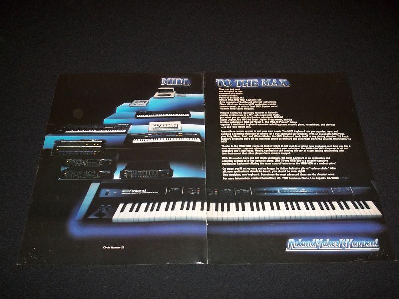 matrixsynth 1985 roland mkb 1000 midi keyboard synthesizer ad