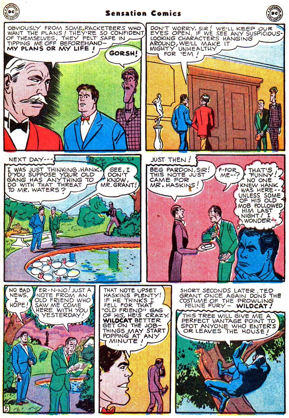 Read online Sensation (Mystery) Comics comic -  Issue #54 - 46