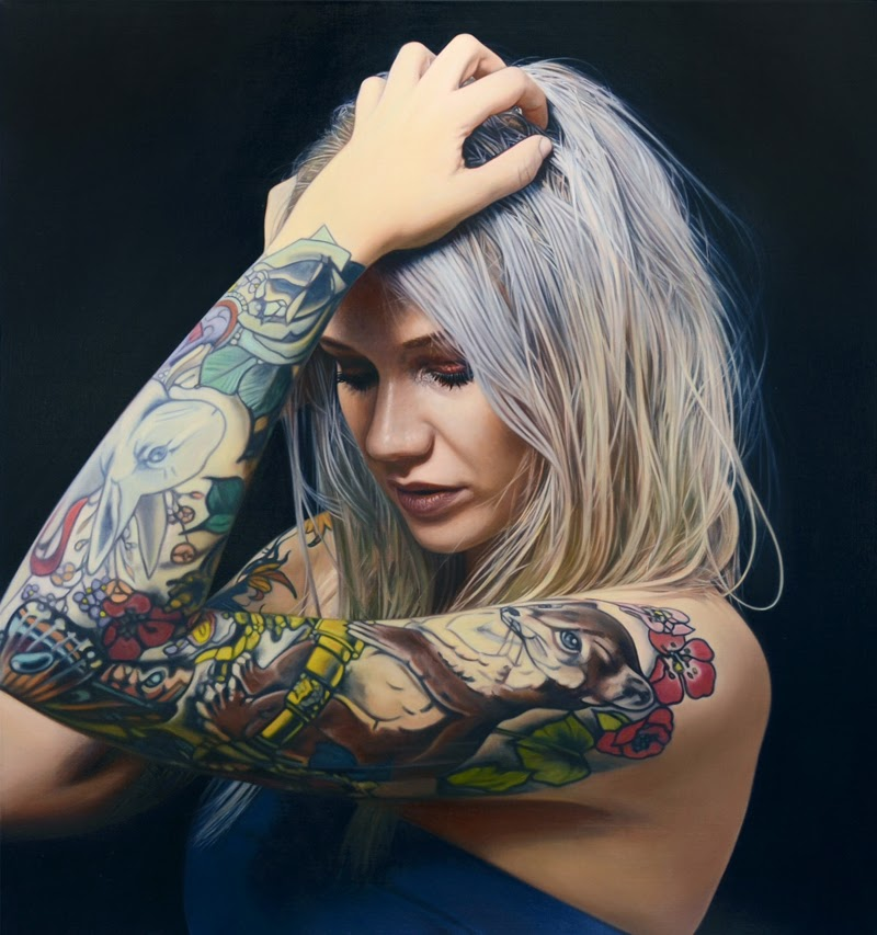 Hyper Realistic Figurative Paintings by Philip Munoz.