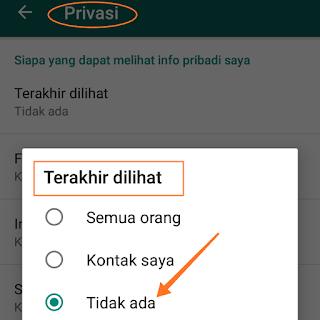 Tips cara menghilangkan status online di profil whatsapp