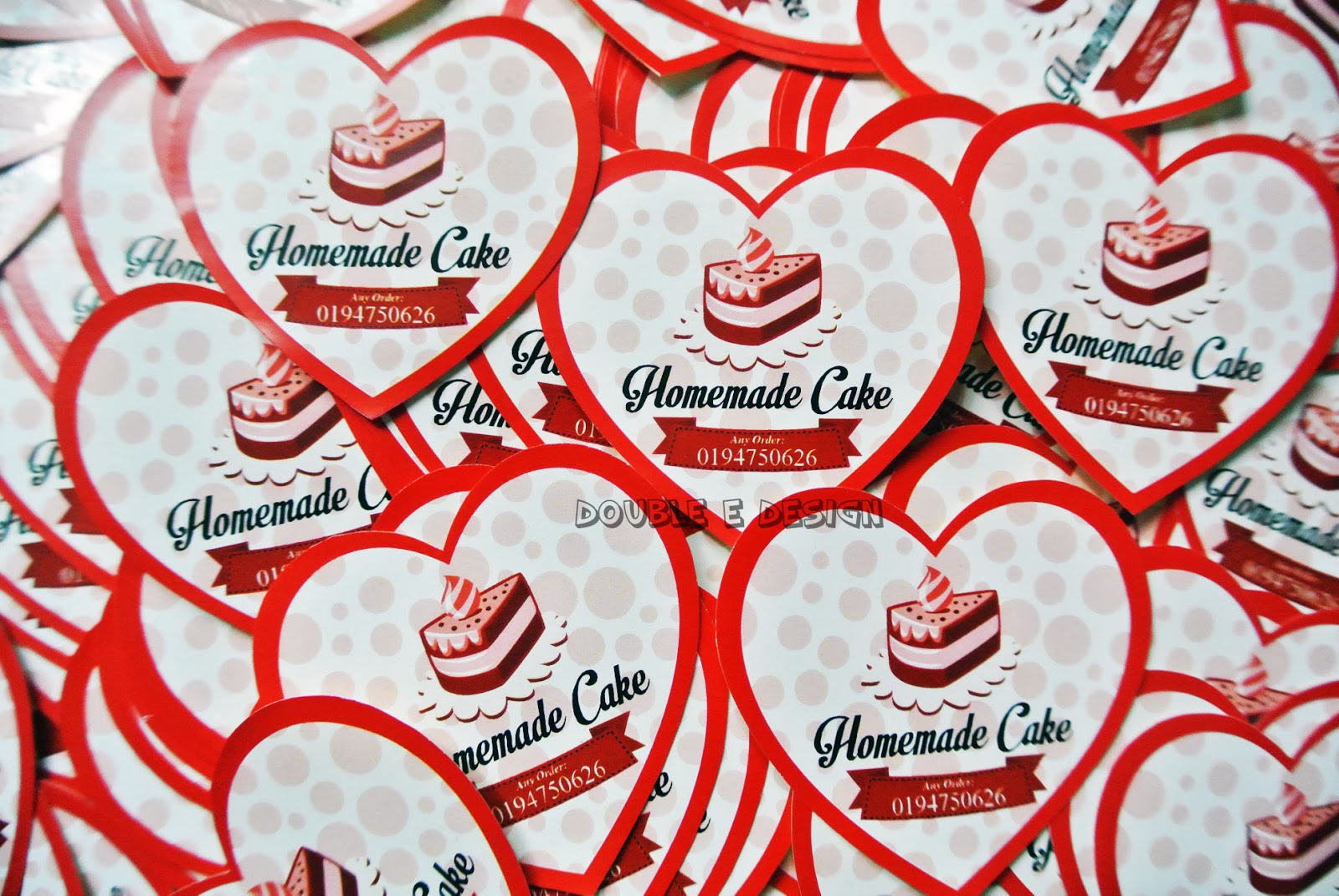 Double Ed Homemade Cake Sticker Labels 100pcs