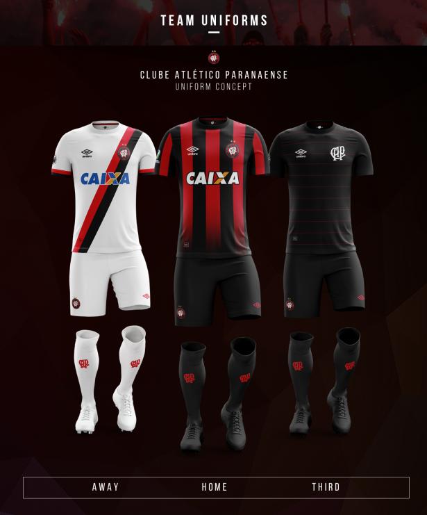 Designer cria novas camisas para os clubes paranaenses - Show de Camisas af3340ff2806a