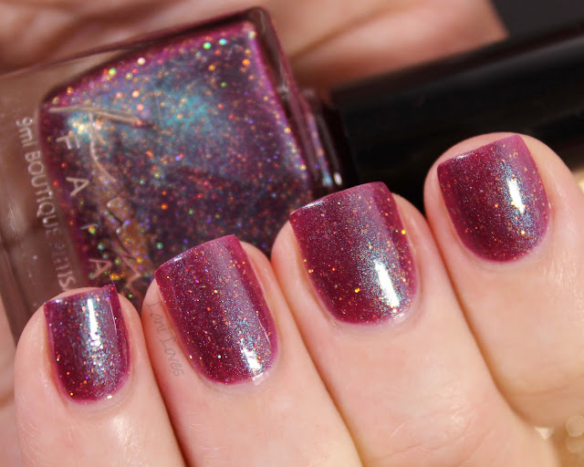 Femme Fatale Cosmetics The Last Great Fire-Drake Nail Polish Swatches & Review