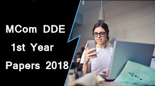 Mdu MCom DDE 1st Year Question Papers 2018