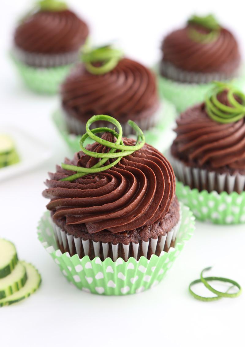 Chocolate Zucchini Cupcakes | Sprinkle Bakes