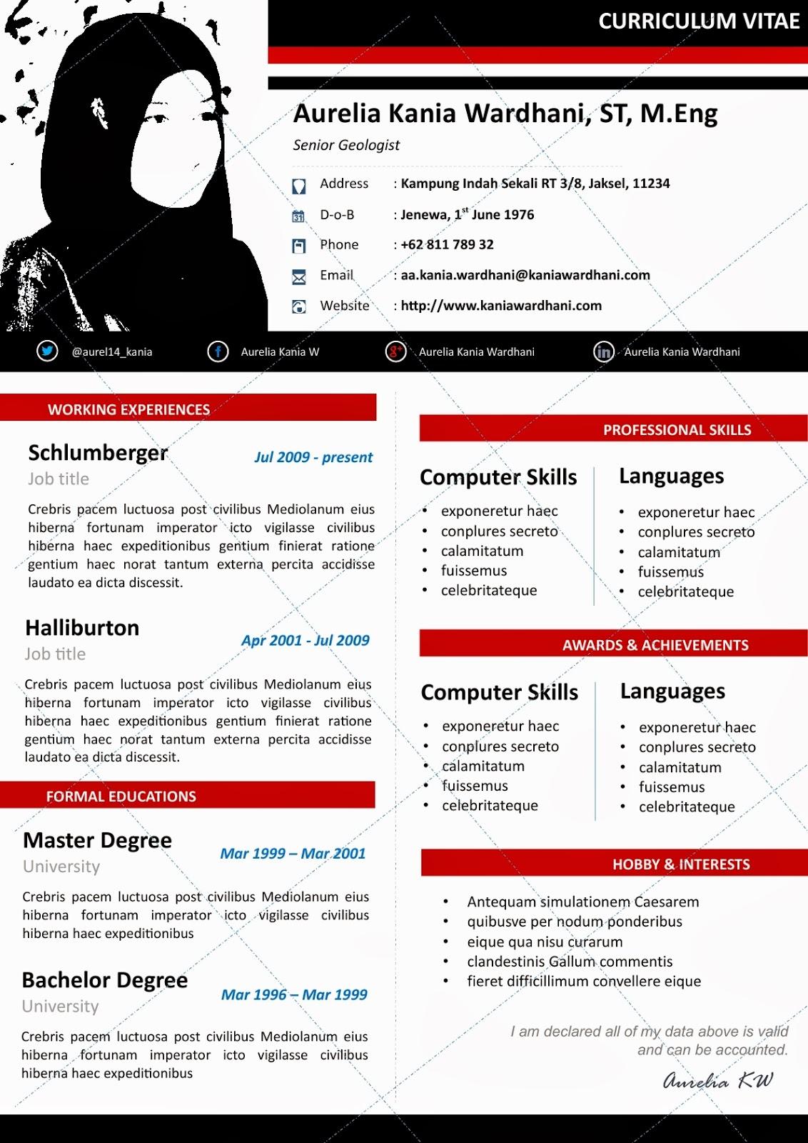 Resume Format Docx File Resume Template Instant Download Teacher