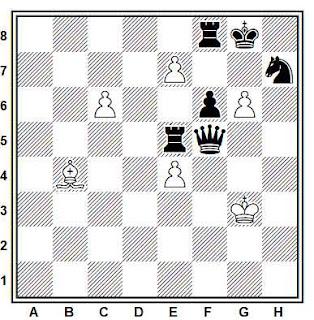 Estudio artístico de ajedrez compuesto por A. Cheron (sobre una idea de H. M. Lommer, 1933)