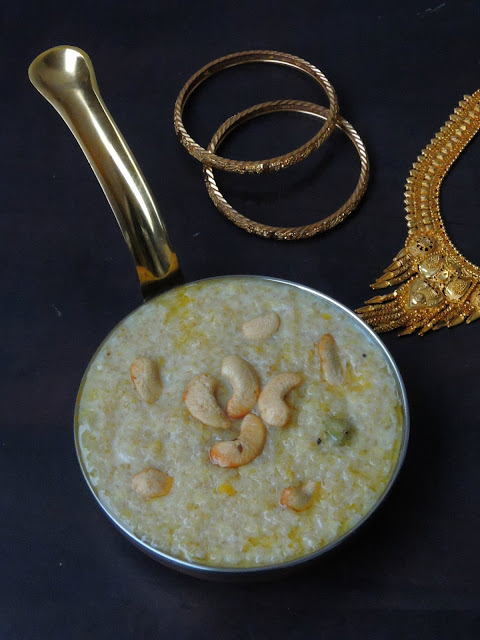 Quinoa Sweet Pongal, Quinoa Sakkarai Pongal