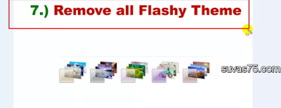 remove all flashy theme