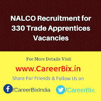 NALCO Recruitment for 330 Trade Apprentices Vacancies