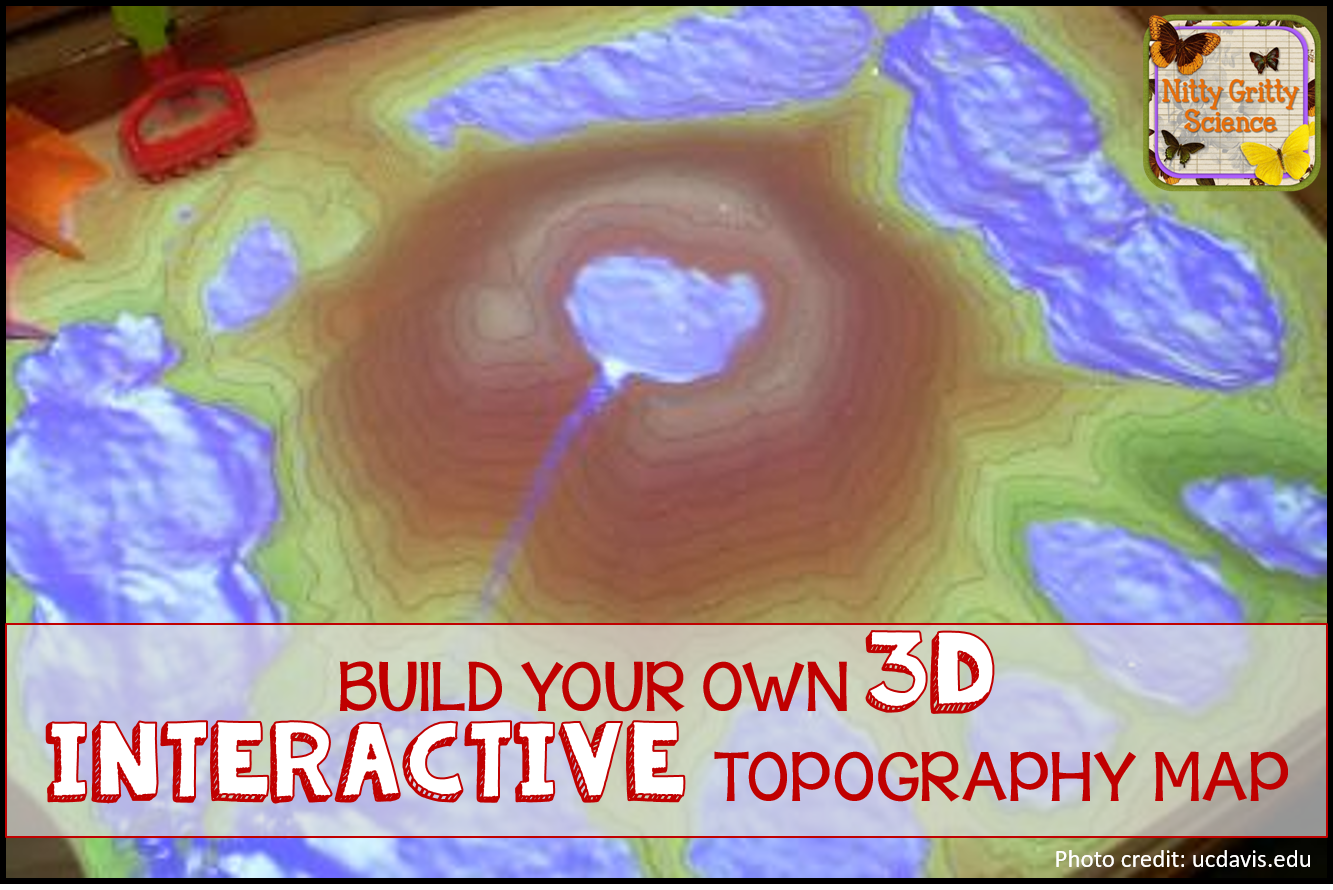 Nitty Gritty Science Interactive 3d Topographic Map You Can Build