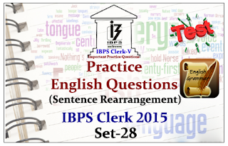 Practice English Questions (Sentence Rearrangement)