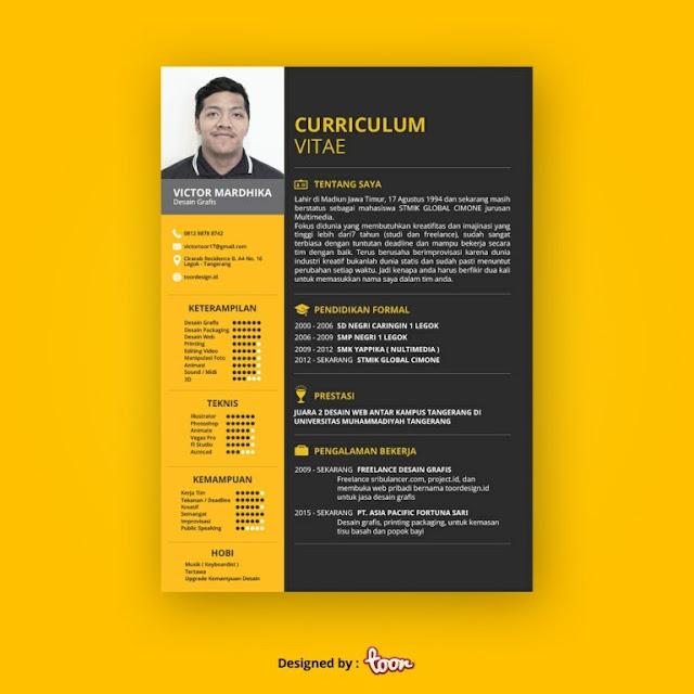Contoh CV Unik