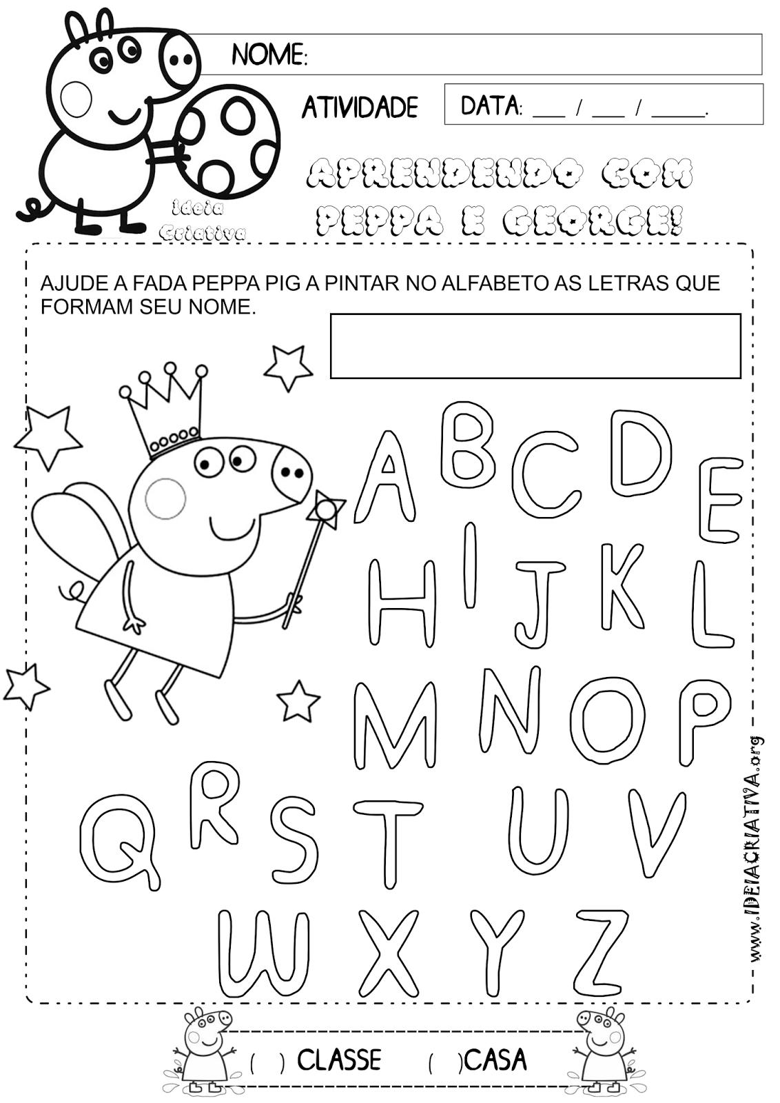 Atividades Escolares E Outros Peppa Pig