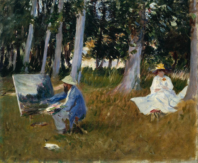 Claude Monet Painting by the Edge of a Wood (1885) by John Singer Sargent