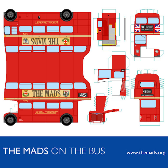 "The Mads: News! ""On The Bus"" Paper MODel Created By Cpt.Stax"