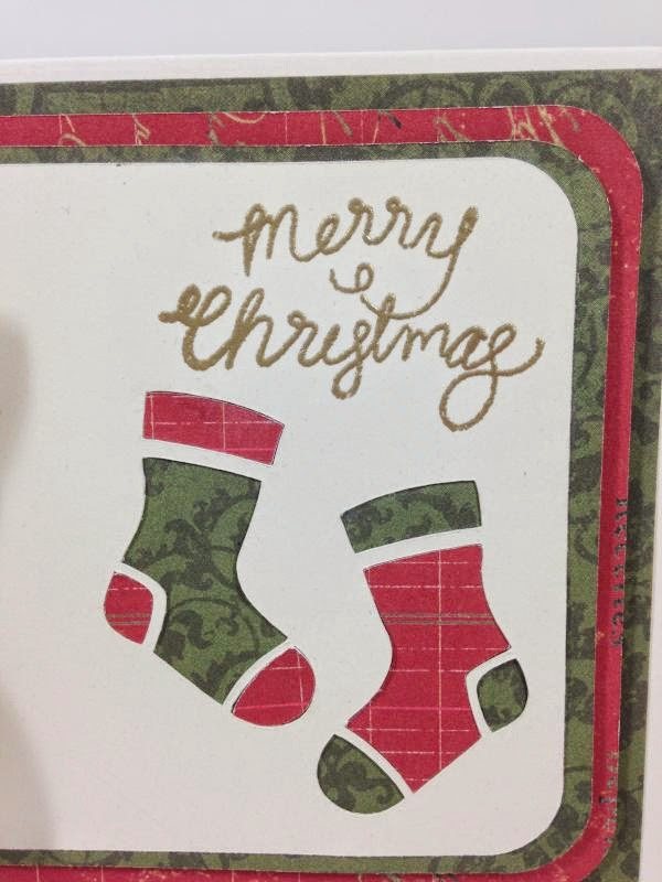 Close To My Heart Artfuly Sent Cricut Stockings card closeup